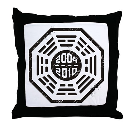 LOST Dharma 2004 - 2010 black Throw Pillow