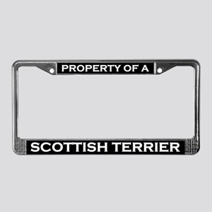 Property of Scottish Terrier License Plate Frame