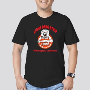Lions Drag Strip Men's Fitted T-Shirt (dark)