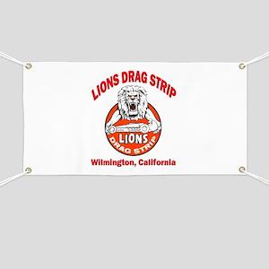 Lions Drag Strip Banner