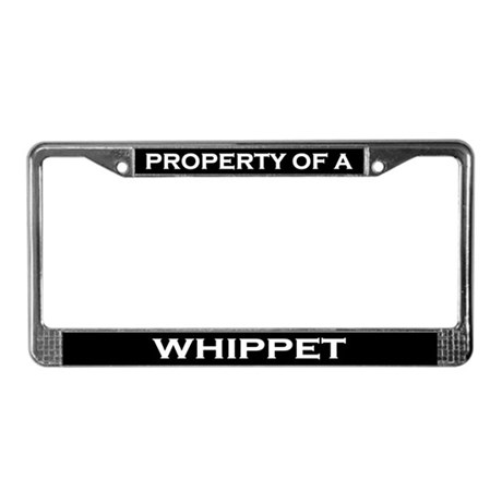 Property of Whippet License Plate Frame