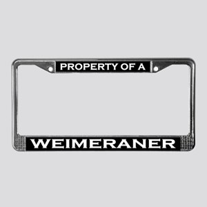Property of Weimeraner License Plate Frame
