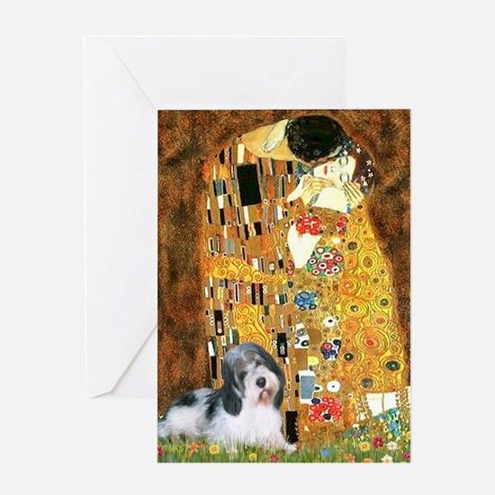 The Kiss / Petit Basset #8 Greeting Card