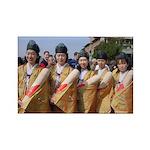 Hounen Matsuri Women Rectangle Magnet