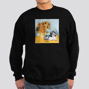 Sunflowers/ Petit Basset #8 Sweatshirt (dark)