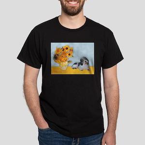 Sunflowers/ Petit Basset #8 Dark T-Shirt