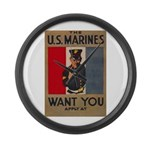 The U.S. Marines Want You Large Wall Clock