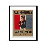 The U.S. Marines Want You Framed Panel Print