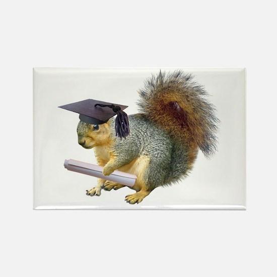 Squirrel Graduation Rectangle Magnet