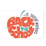 back to school with social workers Postcards (Pack