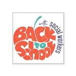 back to school with social workers Sticker