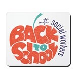 back to school with social workers Mousepad