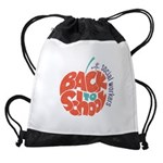 back to school with social workers Drawstring Bag