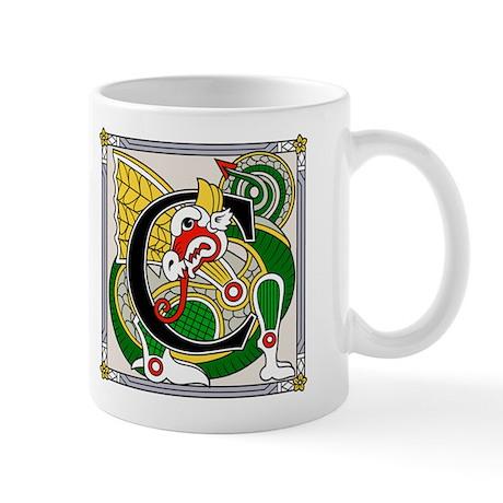 Fantasy dragon art letter C Mug