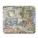 Kim Jacobs' Blue Garden Bench Mousepad