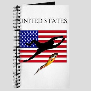 U.S.A. flag with soccer goali Journal