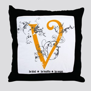 Be vegan Throw Pillow