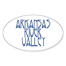 Arkansas River Valley 1 Oval Sticker