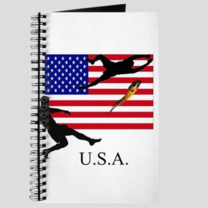 U.S.A. with flag and soccer p Journal