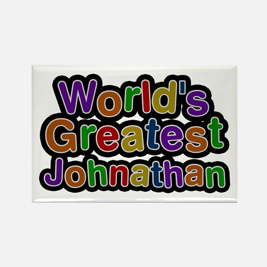 World's Greatest Johnathan Rectangle Magnet