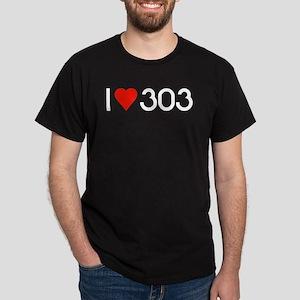 Black I LOVE 303 T-Shirt