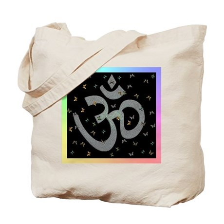 Om Butterfly Tote Bag
