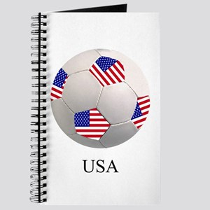 Soccer Ball & American Flag Journal