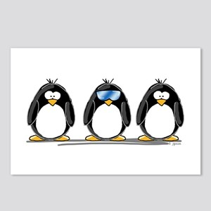 2 Penguins and a Cool Bird Postcards (Package of 8