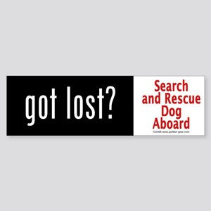 """Got Lost?"" Bumper Sticker"