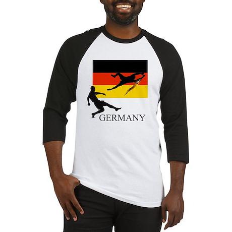 German Flag & Soccer Players Baseball Jersey