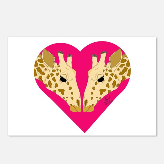 Valentine Giraffe Postcards (Package of 8)
