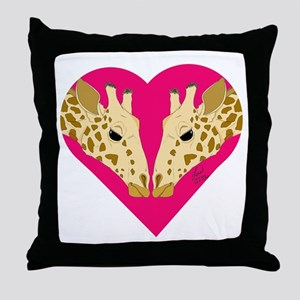 Valentine Giraffe Throw Pillow