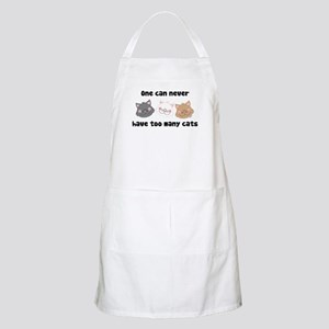 Never Too Many Cats BBQ Apron