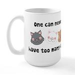 Never Too Many Cats Large Mug