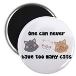 Never Too Many Cats Magnet