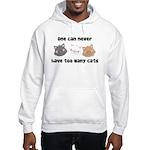 Never Too Many Cats Hooded Sweatshirt