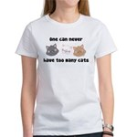 Never Too Many Cats Women's T-Shirt