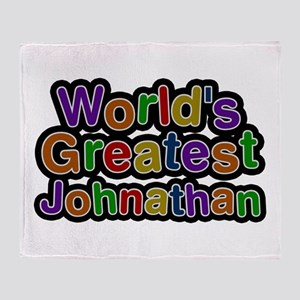 World's Greatest Johnathan Throw Blanket