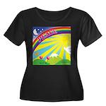 Peace Rainbow Plus Size Scoop Neck Dark T-Shirt