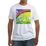 Peacerainbow Fitted T-Shirt