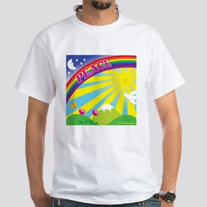 Peacerainbow White T-Shirt