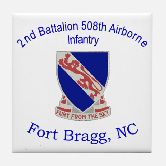 2nd Bn 508th ABN Tile Coaster