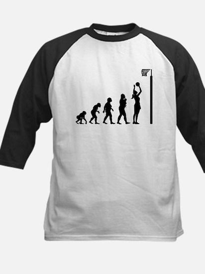 Netball Kids Baseball Jersey