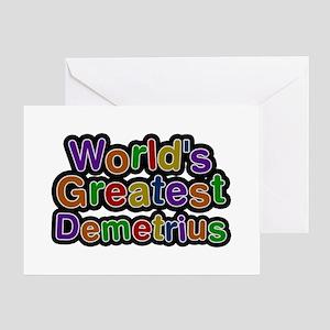 World's Greatest Demetrius Greeting Card
