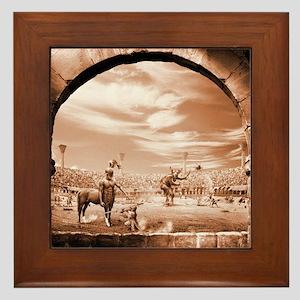 Centaur vrs Minotaur Framed Tile