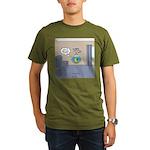 Fishbowl Drone Organic Men's T-Shirt (dark)