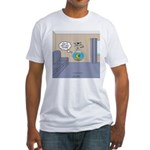 Fishbowl Drone Fitted T-Shirt