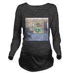 Fishbowl Drone Long Sleeve Maternity T-Shirt