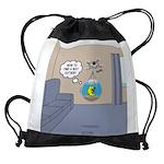 Fishbowl Drone Drawstring Bag