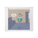 Fishbowl Drone Throw Blanket